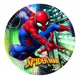 Juego de 8 Platos Spiderman Team Up 23 cm