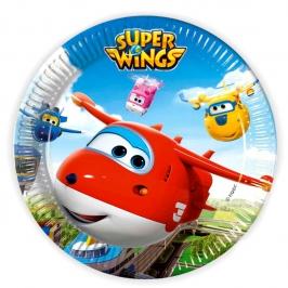 Juego de 8 Platos Super Wings 23 cm