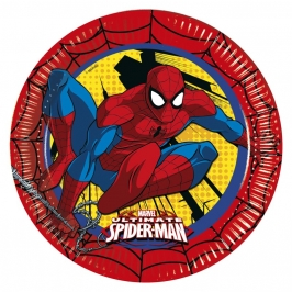 Juego de 8 Platos Ultimate Spiderman 22 cm