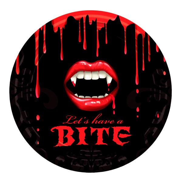 Juego de 8 Platos Vampiro 23 cm