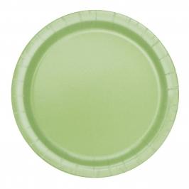 Juego de 8 Platos Verde Pastel 17 cm