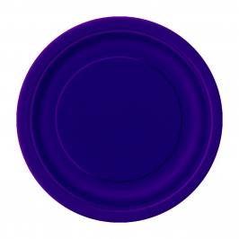 Juego de 8 Platos Violetas 17 cm