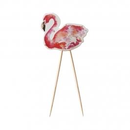 Juego de 8 Toppers Flamingo Fun