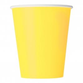 Juego de 8 Vasos Amarillo Claro
