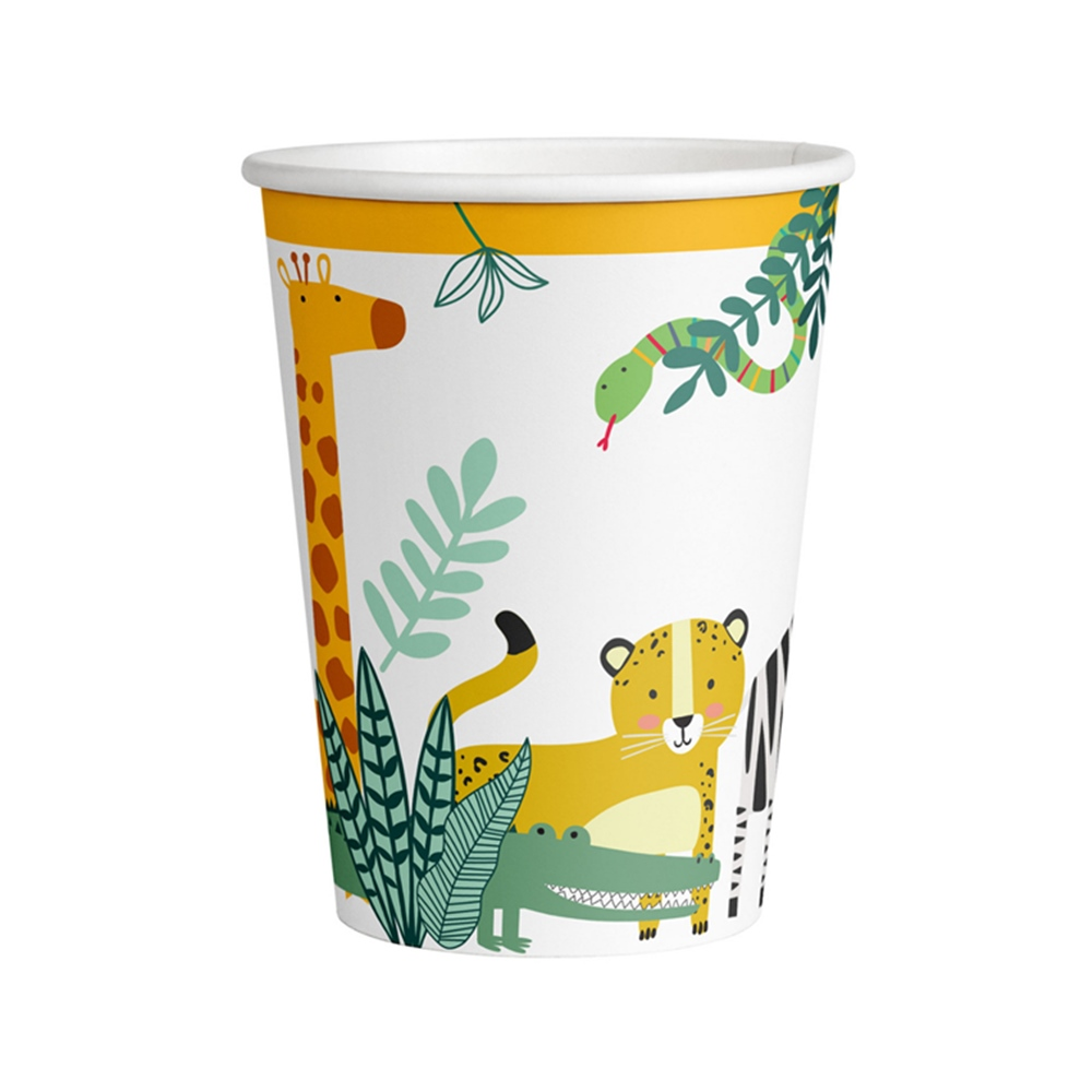 Juego de 8 Vasos Animales de la Selva