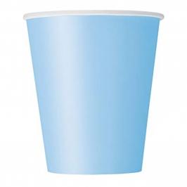 Juego de 8 Vasos Azul Claro