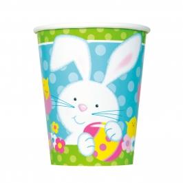 Juego de 8 Vasos Conejo de Pascua