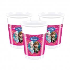 Juego de 8 vasos de Frozen 23cm