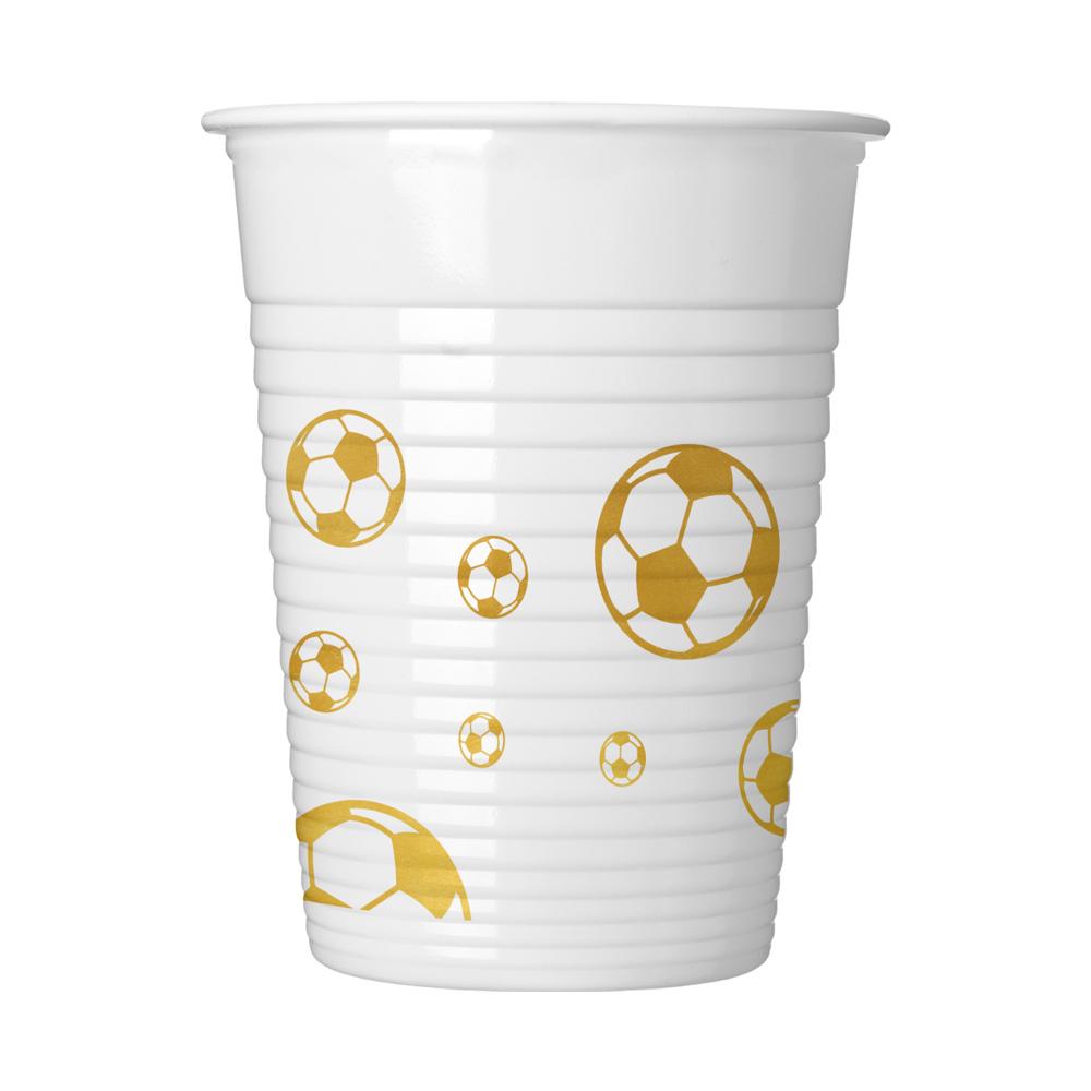Juego De 8 Vasos Plastico Balon De Oro Comprar Online