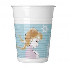 Juego de 8 Vasos Desechables Frozen Sparkle