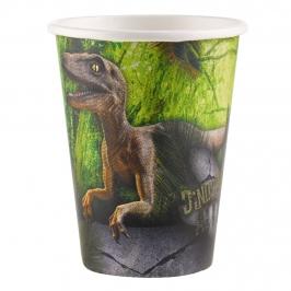 Juego de 8 Vasos Dinosaurios Attack