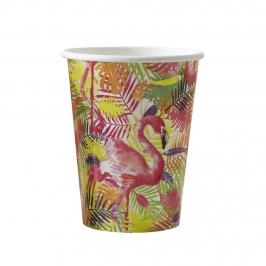 Juego de 8 Vasos Flamingo Fun