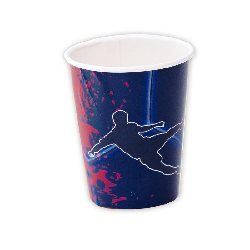 Juego de 8 Vasos Fútbol Azul y Granate