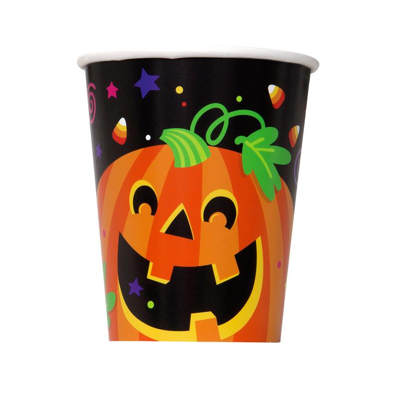 Juego de 8 Vasos Happy Halloween