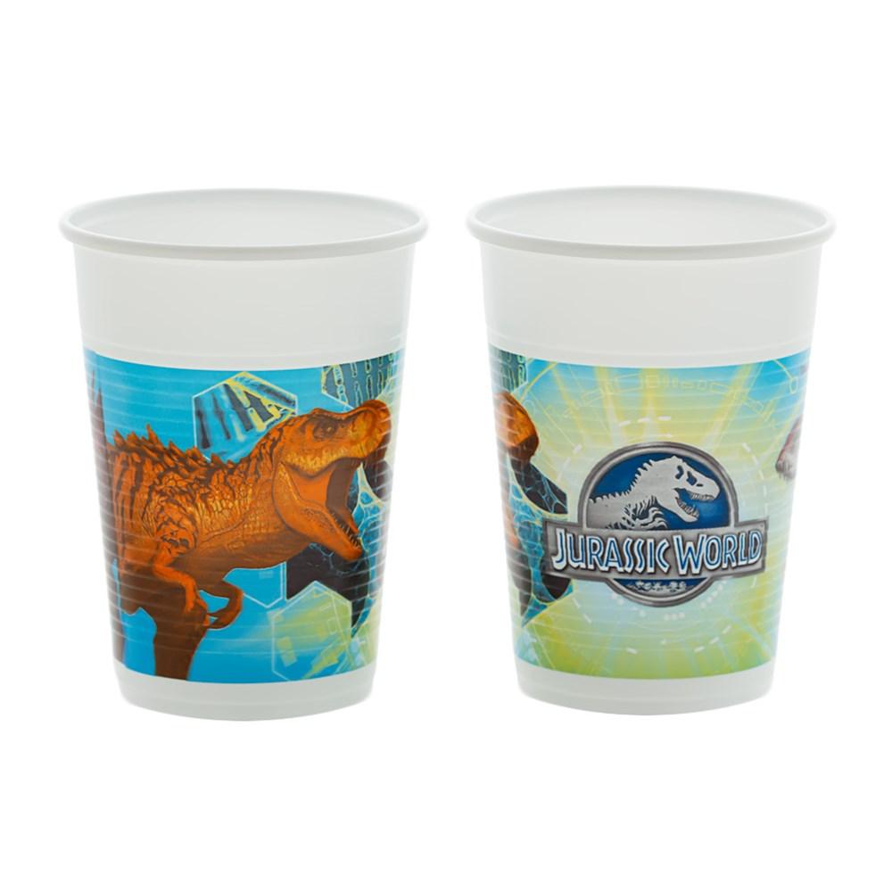 Juego de 8 Vasos Jurassic World
