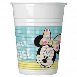 Juego de 8 vasos Minnie mouse