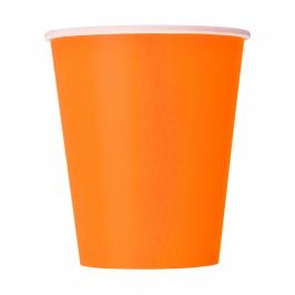 Juego de 8 Vasos Naranjas