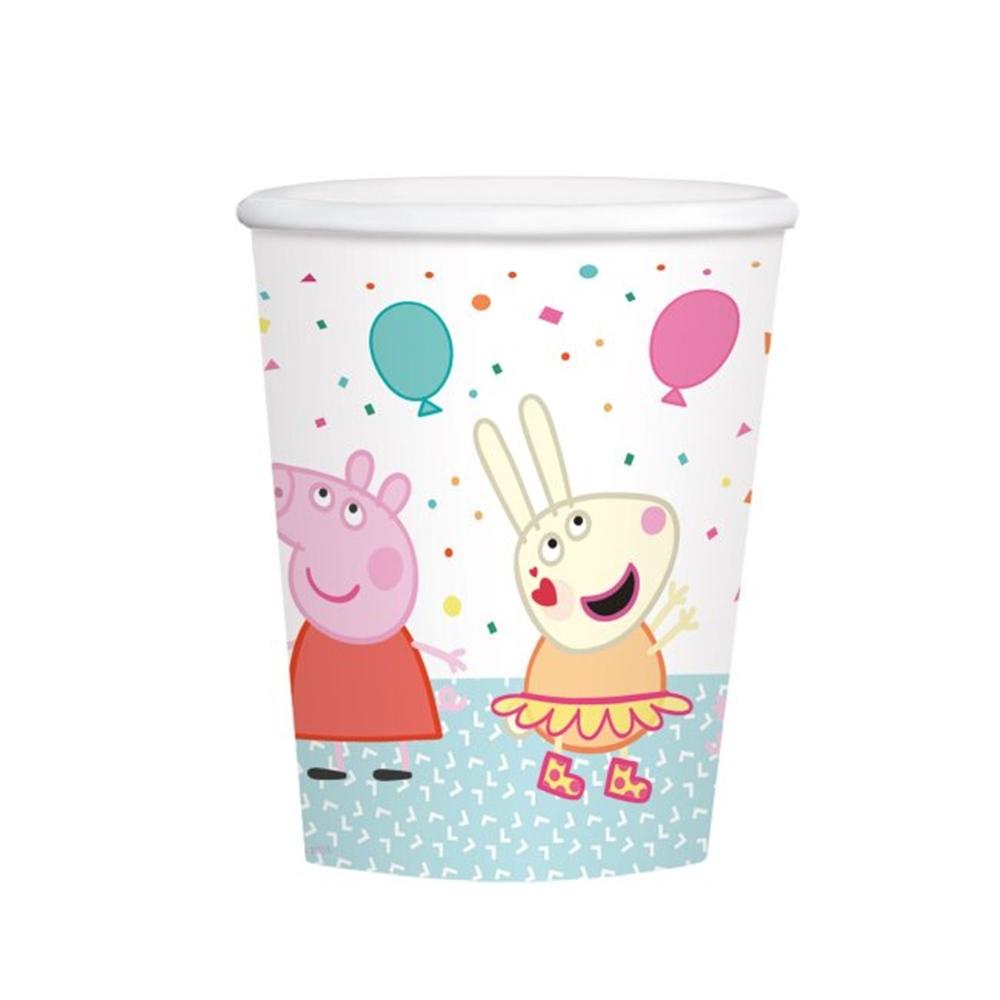 Juego de 8 Vasos Peppa Pig Cumpleaños