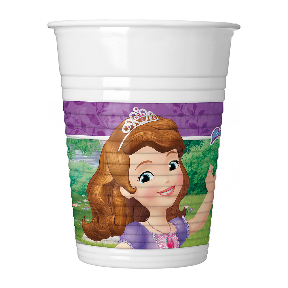 Juego de 8 Vasos Princesa Sofía 200ml