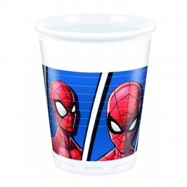 Juego de 8 Vasos Spiderman Team Up