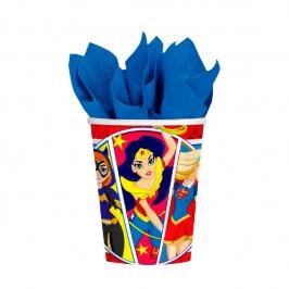 Juego de 8 Vasos Super Hero Girl