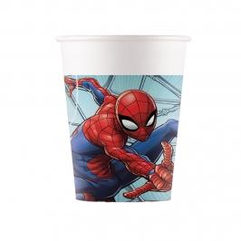 Juego de 8 Vasos Ultimate Spiderman