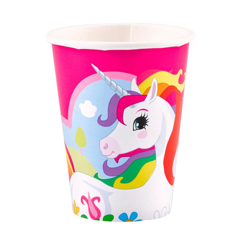Juego de 8 Vasos Unicornio