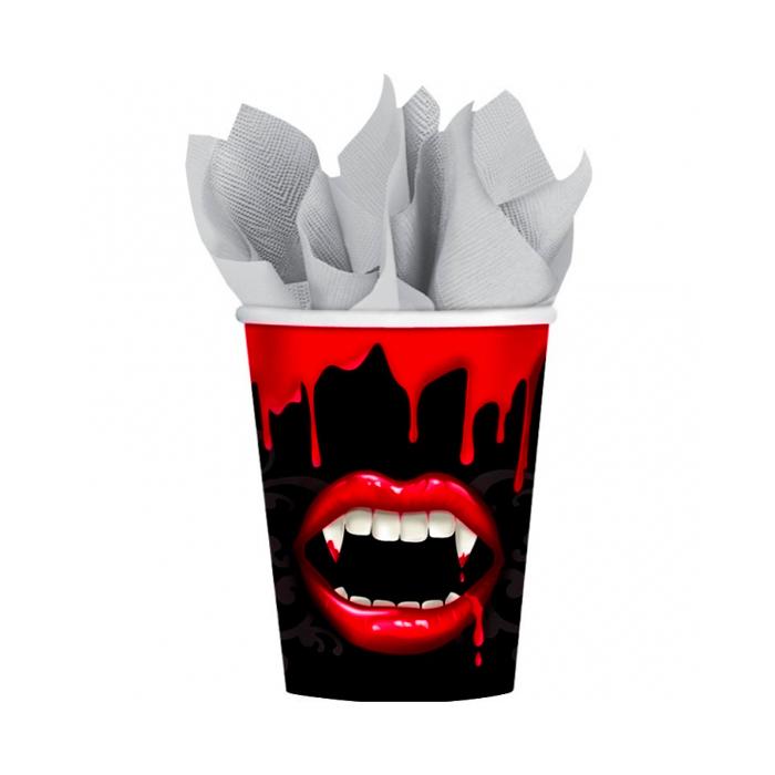 Juego de 8 Vasos Vampiro