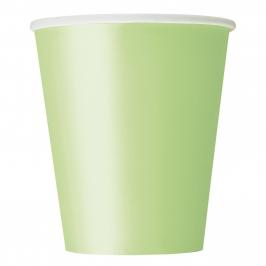 Juego de 8 Vasos Verde Pastel