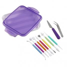 Juego de utensilios para fondant y pasta de goma Luxe (10 pcs)