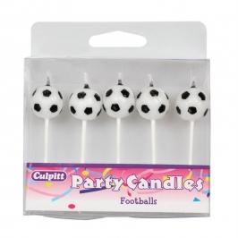 Juego de 5 velas balón de fútbol