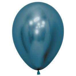 Pack de 12 Globos Reflex Azul 30 cm