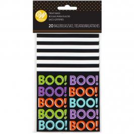 Kit  20 Bolsas para Dulces Boo Halloween