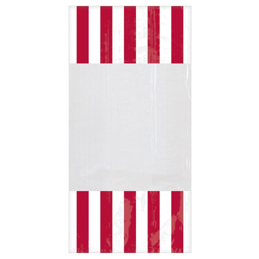 Bolsas para Dulces Rallas Blancas y Rojas