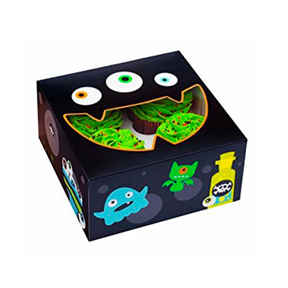 Kit 3 Cajas para 24 Cupcakes Monstruitos