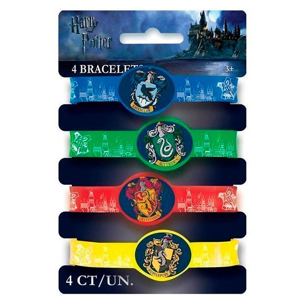 Kit 4 Pulseras Harry Potter