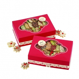 Kit de 2 cajas grandes para galletas + Etiquetas