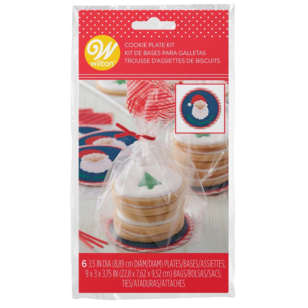 Kit de 6 Bolsas para Galletas Santa Claus