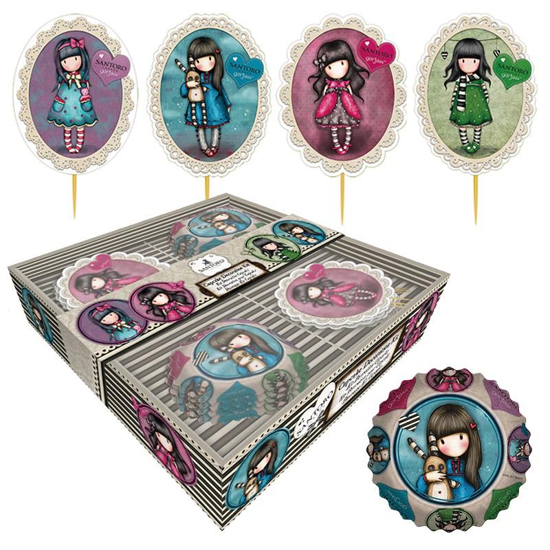 Kit Decoración de Cupcakes Gorjuss