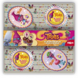 Kit Decoración de Cupcakes Trolls
