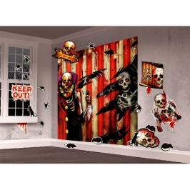 Kit Decoración de pared Creepy Carnival
