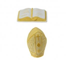 Kit de 2 decoraciones para tartas de comunión