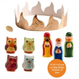 Kit Figuras Roscón de Reyes Búhos 7 pcs