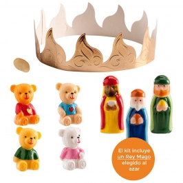 Kit Figuras Roscón de Reyes Ositos 7 pcs