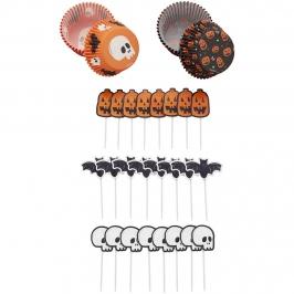 Kit para cupcakes calavera Halloween