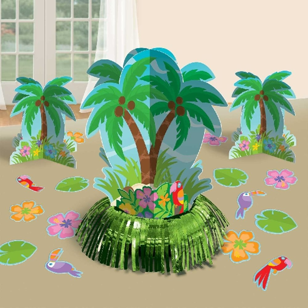 Kit para Decoración de Mesas Hawaii Palm Tree