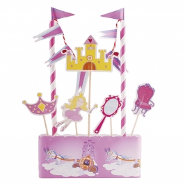 Kit para decorar tartas Princesas