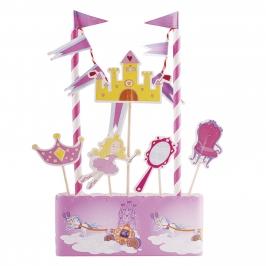 Kit para decorar tartas Princesas