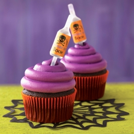 Set Decoración Cupcakes Halloween con Pipeta