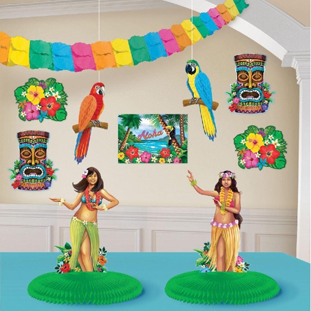 Kit para decorar Habitaciones Hawaii Luau